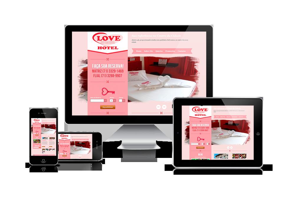 Projeto Website Hotel Love in Bahia