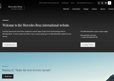 Mercedes-Benz - International Corporate Website